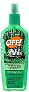 S C Johnson Wax Off 6 oz Deep Woods Spray Insect Repellent