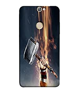 FUSON Designer Back Case Cover for Coolpad Max (Hand Lifts hammer Strenght Arts)