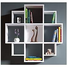 Librerie Parete Moderne.Amazon It Librerie A Parete Moderne 3 Stelle E Piu