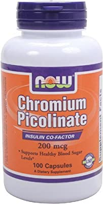 NOW Foods Chromium Picolinate 200mcg, 100 Capsules(Package Quantity: 1) from Now Foods