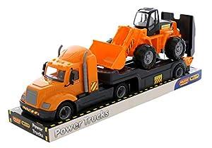 Polesie 58591 Mike, Camión Remolque con Bandeja de Carga - Vehículos de Juguete