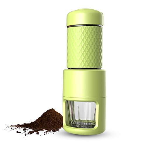Yzlife Kaffeemühle Manuelle Kaffeemühle Kaffeemaschine Multifunktions Handheld Kaffeemühle Cafe Hohe Qualität Grün Büro Outdoor-Reisen Schleifer (Kaffeemühle Hand-held)