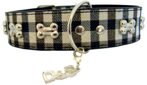 Bild: Halsband Murphy braun mit Knochen  Dogs Stars  7 verschiedene Größen