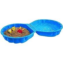 BIG 7711-001 - Piscina y caja de arena con forma de concha (89 x 88 x 23 cm), color azul