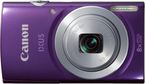 Canon IXUS 145 Digitalkamera (16 MP, 8-fach opt. Zoom, 6,8cm (2,7 Zoll) LCD-Display, HD-Ready) violett Opt 2.7 In Lcd
