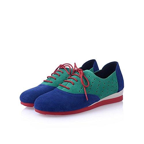 les femmes disent chaussures mode plat moins sur des baskets bleu vert green