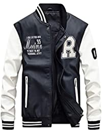 online retailer 183c8 32f56 Amazon.it: giacca di pelle uomo - Bianco / Giacche / Giacche ...