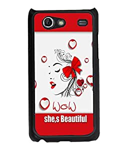 Fuson Wow Girl Back Case Cover for SAMSUNG GALAXY S ADVANCE - D4109