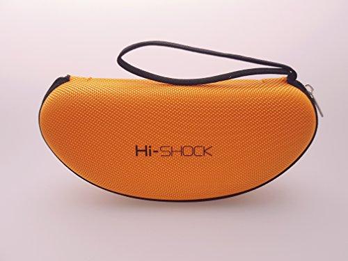 Hi-SHOCK® 3D Brillen Etui Hi-Case Orange | Stoßabsorbierendes Zipper - Hartschalen - Brillenetui mit Schlaufe | Hardcase perfekt für alle Brillen | Ideal für Sonnenbrille / Sportbrille [EVA]