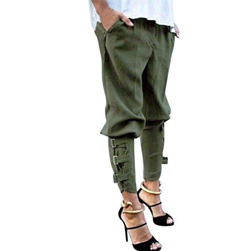 UFACE Damen Slim Harem Hosen Lässige Harem Baggy Hip Hop Dance Jogging Trainingshose Hosen(Armeegrün,4XL(46))