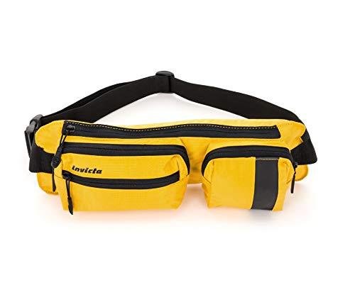 Invicta Big Waist Bag I Time Riñonera Interior, 37 cm, Amarillo (35054)