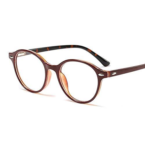 WULE-RYP Polarisierte Sonnenbrille mit UV-Schutz Gefälschte Nerd Brille Metall Runde Brillengestell, UnisexMens und Damen Superleichtes Rahmen-Fischen, das Golf fährt (Farbe : Bordeaux/Leopard)