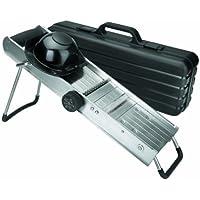 Lacor 60357 - Mandolina con protector y cuchillas giratorias, inoxidable
