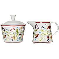 Ritzenhoff & Breker Doppio Shanti Juego de 044997Azucarero y jarrita para la leche, 2piezas, Vajilla Accesorios, porcelana, floral