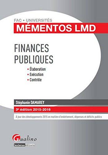 Finances publiques 2015-2016 par Stéphanie Damarey