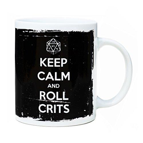 Frühstück Porzellan Weiße Tasse 32 cl. Keep Calm and Roll Crits-Design