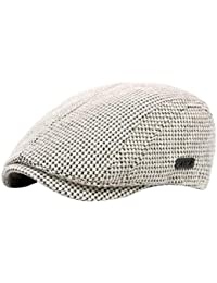 BESBOMIG Hombres de Estilo Newsboy Casquillo Plano Sombreros Boina -  Newsboy Moda Vintage Estilo Británico Casquillo b19abff2f83