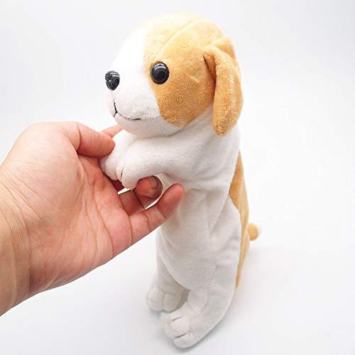 Happy Little Sheep Federmäppchen/Federmäppchen, weich, 3D-Design, Motiv Golden Retriever 25 cm Border Collie -
