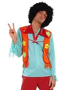 César - Disfraz de hippie fumao para hombre (adulto), talla única
