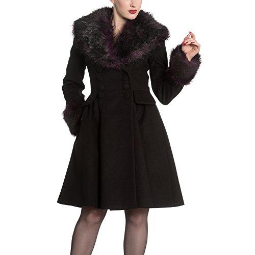 Hell Bunny Mantel ROCK NOIR COAT 8055 black-purple Black-Purple