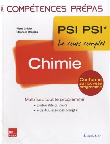 Chimie 2e année PSI PSI*