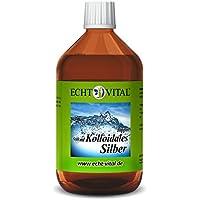 Echt Vital Kolloidales Silber 10 ppm - 1 Flasche mit 500 ml - Reinst-Silber (Reinheitsstufe 99,99%) preisvergleich bei billige-tabletten.eu