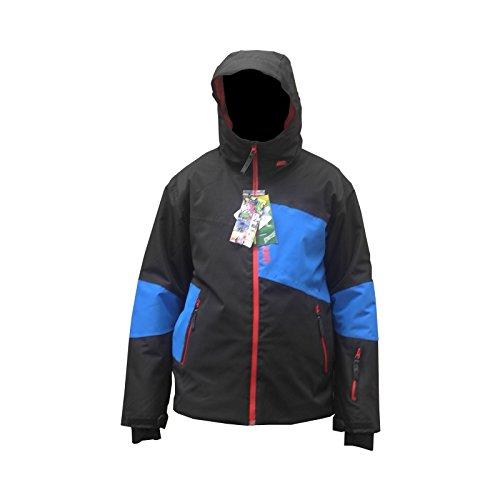 Jacke Skifahren Herren WATT Gonne1 schwarz einsatz blau - L