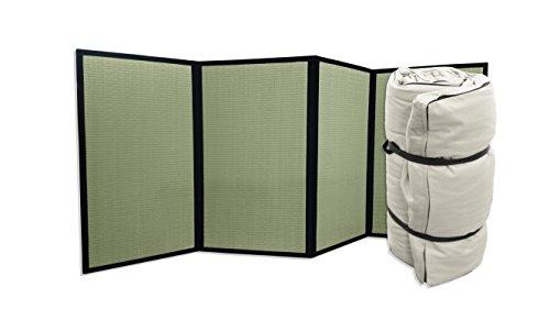Combinación Tatami Plegable Futon portátil Crudo