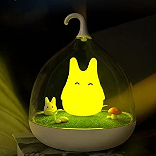 Alisabler Elfin Vibration Night Light Rechargeable Birdcage Touch Dimmable Lamp to Overcome Night Fright(yelow)