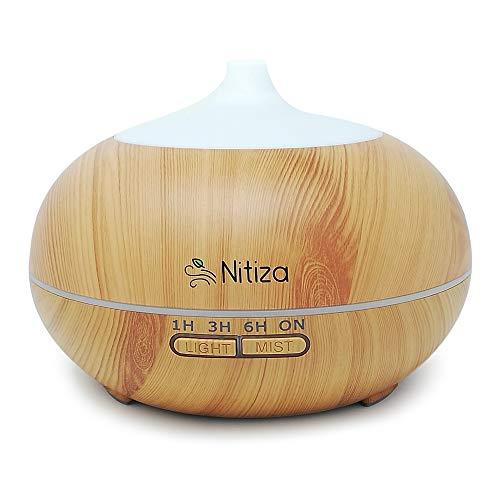 Difusor de aromas 550 ml humidificador con mando a distancia ultrasónico - Humidificador eléctrico...