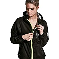 HOTSUIT Sauna Suit Running Yoga Clothes Fitness para Mujeres. (Negro,XX-Large)