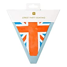 Talking Tables PLASTIC FREE Union Jack Flag British Bunting Celebrate VE Day Size 3m (10ft) 12 pennants