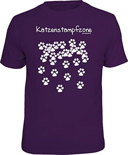 RAHMENLOS Original T-Shirt für den Katzenfreund: Katzen-Stampfzone Größe XXL, Nr.1616