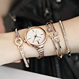 TCEPFS Diamante Oro Relojes de Mujer Vestido Reloj de Mujer Reloj de...
