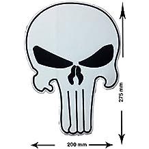 Weiss Punisher Cartoon Patch Iron On Punisher Aufn/äher zum aufb/ügeln