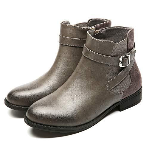 gracosy Bottines Hiver Femmes, Chaussures Ville à Talons...