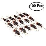 Tinksky 100pcs Gefälschte Hinterwürfe Streich Neuheit Schaben Bugs Plastik Tier Spielzeug Halloween Party Trick Spielzeug