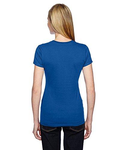 Fruit of the Loom ssfjr Damen Sofspun Junior T-Shirt Blau - Königsblau