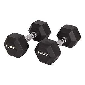 Manubri pesi esagonali gommati 60 kg set (2 x 30 kg)