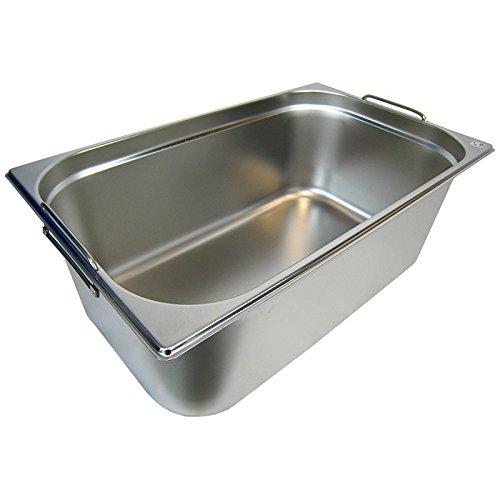 Preisvergleich Produktbild GN 1/1 Gastronormbehälter GN-Behälter Edelstahl 28 Liter Tiefe 200mm MIT FALLGRIFF
