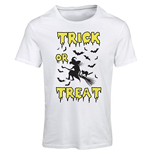 or Treat - Halloween Witch - Party outfites - Scary costume (Large Weiß Mehrfarben) (Super-scary Halloween-masken)