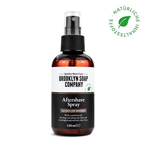 Brooklyn Soap Company Natürliche männerpflege: aftershave spray - 100ml ? beruhigt die haut und wirkt antibakteriell ? natürliche pflege der brooklyn soap company ® ? geschenkidee als geschenk für männer