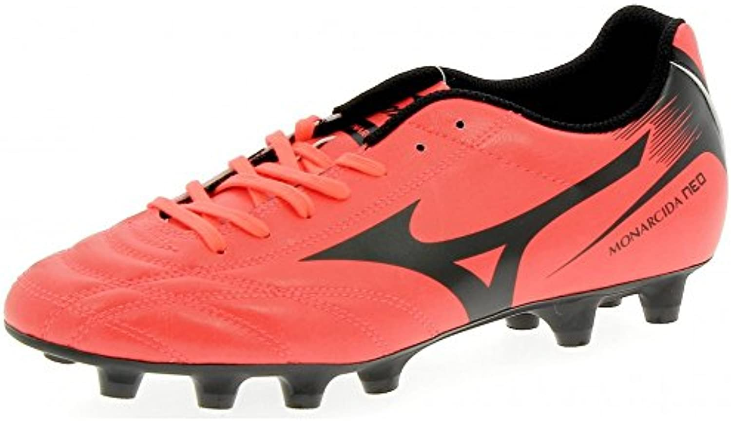 Monarcida Neo Moulded FG Football Boots   Fiery Coral/Black   size 8.5