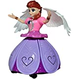 Vepson Princess Dancing Doll And Rotating Angel Girl Flashing Lights With Music Toy For Kids