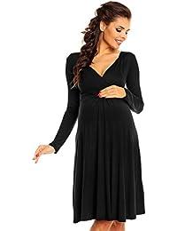 Zeta Ville maternité - robe jersey de grossesse - manche longue - femme - 890c
