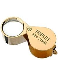 FamilyMall Loupe de poche de bijoutier 30 x 21 mm