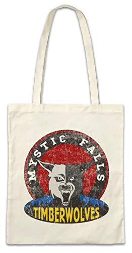 Team-logo-fälle (Urban Backwoods Mystic Falls Timberwolves Hipster Bag - Vampire Football Team Diaries Sign Zeichen Logo Vampir Vampire Werewolf Werewolver Werwolf Horror Creature)