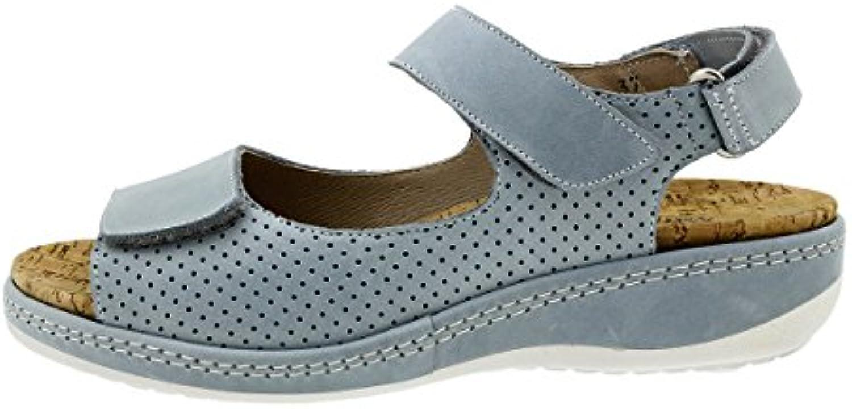 PieSanto Sandalia Plantilla Extraíble Piel Topacio 180911 Zapato Confort