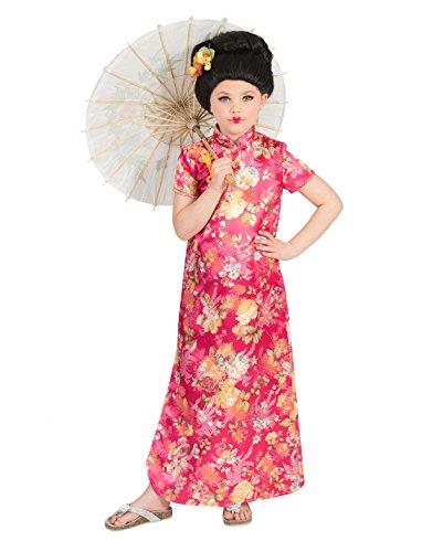 b6a341140261 Funny Fashion Costume da bambina cinese Hanako ragazza vestito  rosa colorato carnevale ragazza asiatica (