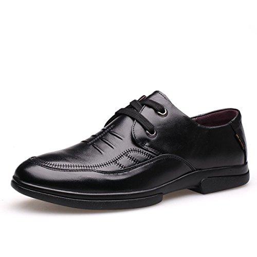 Pattini Di Vestito Da Affari Degli Uomini Nuovi Scarpe Gentleman Derby Leather Popular A